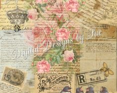 Rose Sheet No. 3    Instant Download    High quality digital sheet.    ♥Please note that all creations are my own design♥    may be enlarged or reduced.    Image is 5x7 JPEG File 300 DPI        IMPORTANT MY TERMS OF USE HAS CHANGED:    ♥ You may print and sell for profit on a small scale only. ♥You may incorperate the art into your crafts or jewelry.  ♥ You may use it for your personal needs.  ♥ You may resize my images.  ♥ You may not sell this in digital form, or add to any web pages.  ♥…