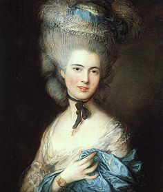 Thomas Gainsborough/Portrait of a Lady in Blue