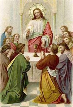 Jesus and the eucharist with disciples.jpg (300×437)