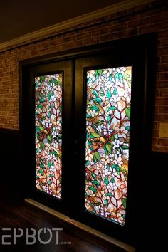Decorative window film stained glass rubinaccio j for Victorian stained glass window film
