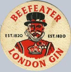 Beefeather London Gin coaster