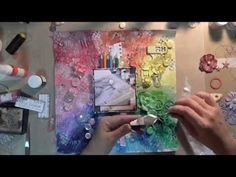 Mixed Media Layout Tutorial and A Birthday Giveaway! - YouTube