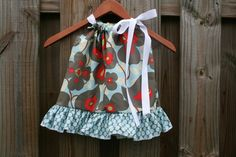 Amy Butler Morning Glory Ruffle Pillowcase Dress by thetrendybaby, $27.00