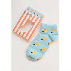 Blue ice cream women cotton socks o MGG Cotton Socks, Indie Brands, Ice Cream, Punk, Blue, Stuff To Buy, Women, Style, Fashion