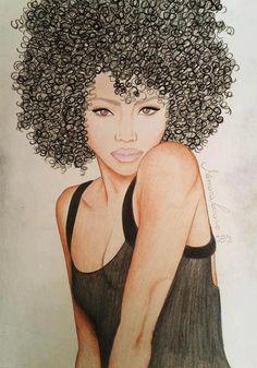 art curls curly hair black art afro natural hair brown-princess