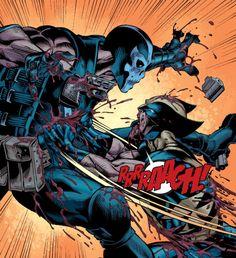Wolverine vs Crossbones by the living legend - Mark Bagley! Marvel Comic Character, Comic Book Characters, Marvel Characters, Comic Books Art, Hq Marvel, Marvel Comics Art, Marvel Heroes, Wolverine Art, Comic Manga