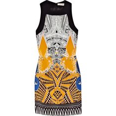 Etro Printed silk-blend mini dress (£505) ❤ liked on Polyvore featuring dresses, vestidos, sukienki, tops, paisley dress, paisley mini dress, colorful dresses, short sleeveless dress e multi colored dress