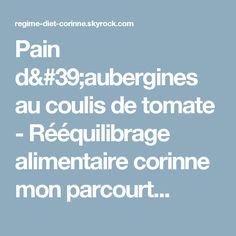 Pain d'aubergines au coulis de tomate - Rééquilibrage alimentaire corinne mon parcourt...
