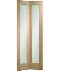 Made to Measure Bi-Fold Glazed Oak Novara Door