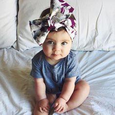 Ideas preciosas de bandanas, diademas o lazos para tu bebé