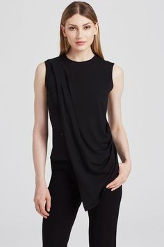 Our best-selling Modal Jersey Top is constructed with wrinkle-resistant micro-modal sourced domestically in the USA. Work Pumps, Classic Pumps, Work Looks, White Skirts, Work Casual, Spandex Fabric, Summer Looks, Skinny Jeans, Lisa