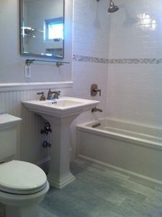 White Tiled Bathroom Wainscoting   Google Search