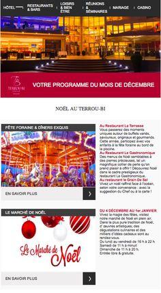 Newsletter mensuelle de l'hôtel 5 étoiles Terrou-Bi à Dakar pour les fêtes de fin d'année (décembre 2014)