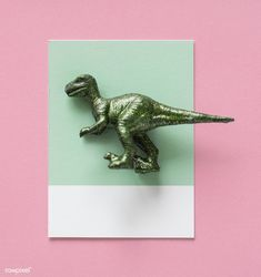 Colorful  and cute miniature dinosaur figure | free image by rawpixel.com