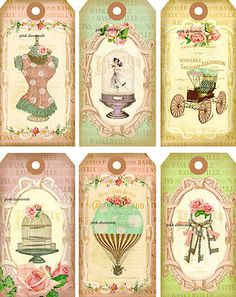 shabby paris chic tags