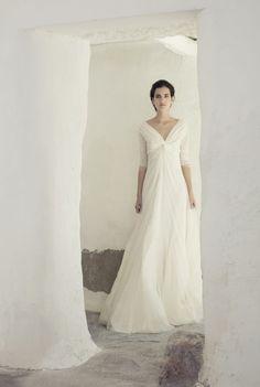 Vestido de Cortana para una novia bohemia y femenina.