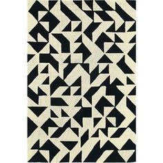 Brink en Campman Nova Origami 89005 Vloerkleed Zwart - 140 x 200 cm - afbeelding 1