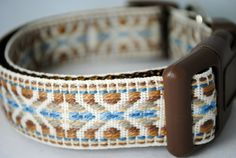 AZTEC GEOMETRIC 1 Width Adjustable Dog Collar  Also by swankypaws, $16.00