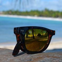 8c643b33728 Tortoise Shell Folding Sunglasses with Amber Lens by Foldies  69USD Folding  Sunglasses