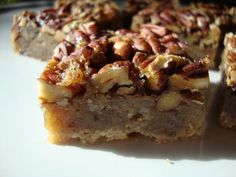 Thick and Chewy Pecan Pie Bars