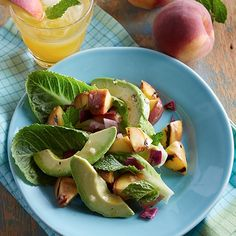 I'm checking out a delicious recipe for Grilled Peach and Avocado Salad from kroger!