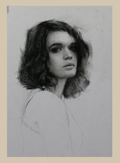 Charcoal is a great medium for studying the effect of light and shade across the…