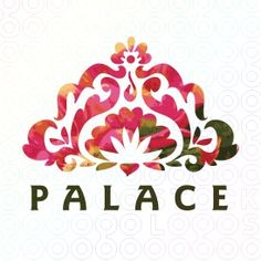 Palace spa logo and its organic and floral shapes come together to form a henna like lotus bloom. Excellent for a yoga studio, spa, salon, indian or curry restaurant.