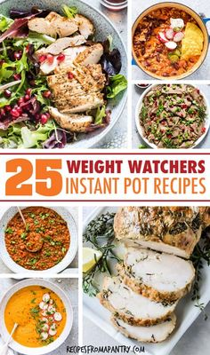 This collection of 25 Weight Watchers Instant Pot Recipes makes it easy to stick with your healthy eating plan. Each dish has just 7 SmartPoints or less! Best Instant Pot Recipe, Instant Pot Dinner Recipes, Supper Recipes, Lunch Recipes, Appetizer Recipes, Healthy Recipes, Instant Recipes, Pressure Cooker Recipes, Slow Cooker