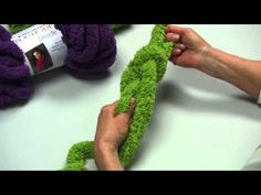 ▶ Learn How to Make a Hand Chain Scarf with Red Heart Yarns - YouTube