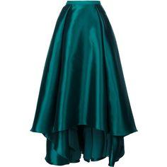 Badgley Mischka long full skirt ($725) ❤ liked on Polyvore featuring skirts, green, full skirt, long blue maxi skirt, badgley mischka, blue green skirt and long skirts