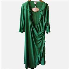 Leona edminston green wrap dress