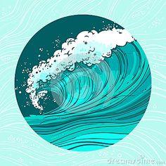 Sea waves circle POSTER IMAGE