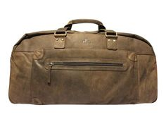 bf60090f07 The luxury large leather weekend bag from Rowallan in Brown. Smooth