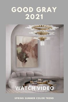 Good Gray The Spring/Summer Color Trend 2021 Trending Paint Colors, Paint Colors For Home, Interior House Colors, Home Interior, Colorful Decor, Colorful Interiors, Home Trends, Summer Colors, Color Trends