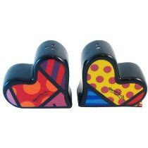 Romero Britto Hearts Salt and Pepper Shaker Set  http://www.squidoo.com/inexpensive-hand-painted-gifts-for-valentines-day