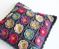 Handmade pillow by dada's place, via Flickr