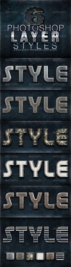 6 Photoshop Layer Styles