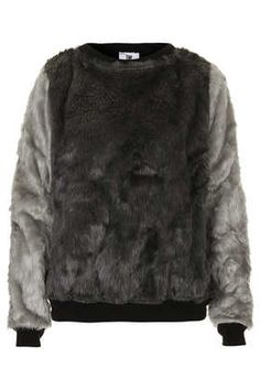 **Tottle Faux Fur Sweat by The Ragged Priest - Tops  - Clothing
