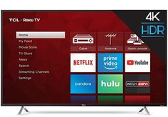 Watch shows with the enhanced clarity of Ultra HD on this TCL LED TV. This TCL LED TV provides access to streaming services, gaming devices and other accessories via its easy-to-use interface. Smart Tv Samsung, Netflix Videos, 55 Inch Tvs, Cheap Tvs, Smart Televisions, Console Tv, Tv Store, Best Gifts For Him, Tv Tuner