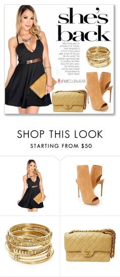 """""""AMICLUBWEAR 29/III"""" by amra-mak ❤ liked on Polyvore featuring ABS by Allen Schwartz, Chanel and amiclubwear"""
