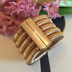 Balmain pour H&M cuff Gold, gorgeous and glamorously chic ... Brand new with box ... Paid way too much for it online! Balmain Jewelry
