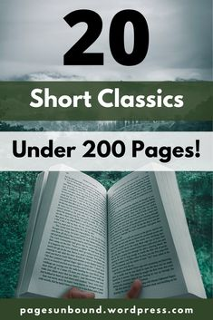 Do you want to read more classics but don't have a lot of time? Or are you worried classic novels are long and intimidating? All the books on this list are classics that come in under 200 pages and will help you reach your reading goals in no time!