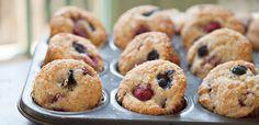 Triple Berry Almond Muffins