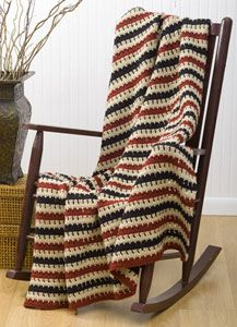 Easy Crochet Afghan- FREE PAttern- great gift idea for him!