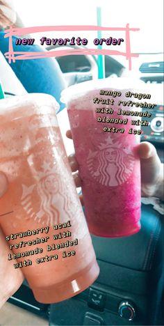 Cold Starbucks Drinks, Coffee Drink Recipes, Coffee Drinks, Starbucks Secret Menu Drinks, How To Order Starbucks, Smoothie Drinks, Yummy Drinks, Starbuck Drinks, Dutch Bros
