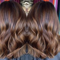 Rich toffee brown with butterscotch swirls #balayage #hairpainting…