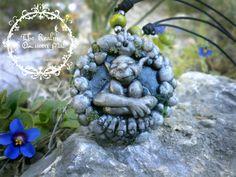 Classic Fairies. Woodland spirits. Necklace Spirit of rocks. polymer clay