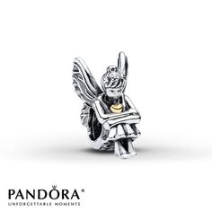 A pixie with butterfly wings and a 14K yellow gold heart is depicted in this sterling silver charm from the Pandora Fall 2013 charm collection. Style # 791206.