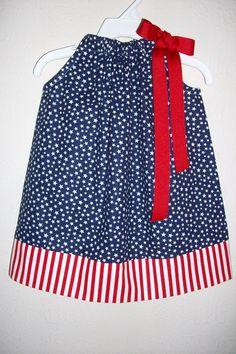 Patriotic Dress Pillowcase Dress Girls Dresses Stars and