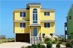 Beautiful oceanfront home in Nags Head with gorgeous views of the beach! Private walkway and dune top gazebo. Gameroom with foosball table. Fun 4th ...